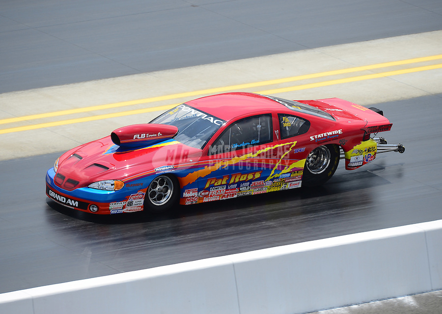 Apr. 15, 2012; Concord, NC, USA: NHRA competition eliminator driver Pat Ross during the Four Wide Nationals at zMax Dragway. Mandatory Credit: Mark J. Rebilas-
