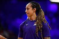 Washington, DC - July 30, 2019: Phoenix Mercury all-star center Brittney Griner (42) before game between the Phoenix Mercury and Washington Mystics at the Entertainment & Sports Arena in Washington, DC. (Photo by Phil Peters/Media Images International)