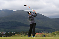 Sue Wooster (AUS) on the 2nd tee during Round 1 of the Women's Amateur Championship at Royal County Down Golf Club in Newcastle Co. Down on Tuesday 11th June 2019.<br /> Picture:  Thos Caffrey / www.golffile.ie<br /> <br /> All photos usage must carry mandatory copyright credit (© Golffile | Thos Caffrey)