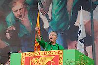 Venezia: il leader della Lega Nord Umberto Bossi tiene il discorso durante la quindicesima edizione della festa nazionale dei popoli padani.