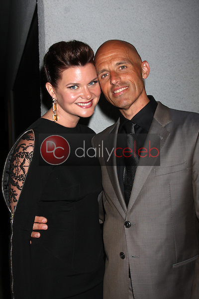 LOS ANGELES - JUN 19:  Heather Tom, James Achor at the ATAS Daytime Emmy Nominees Reception at the London Hotel on June 19, 2014 in West Hollywood, CA