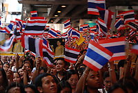 FILE PHOTO - RED vs YELLOW protesters in Bangkok, Silom Area<br /> , April 22, 2010
