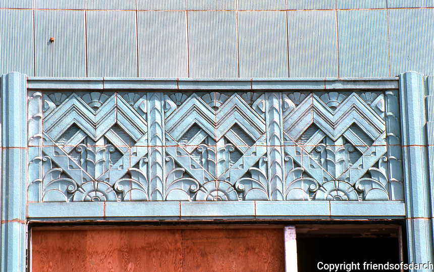 Los Angeles: Wiltern Theater--Window detail.  Photo '82.