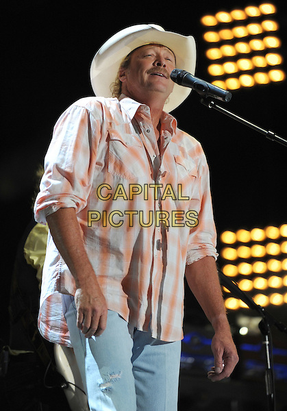Alan Jackson..2011 CMA Music Festival Nightly Concert held at LP Field, Nashville, Tennessee, USA, 9th June 2011..country half length show gig on stage live performing hat cowboy shirt microphone singing .CAP/ADM/LF.©Laura Farr/AdMedia/Capital Pictures.