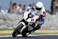PHILLIP ISLAND, 26 FEBRUARY - Troy Corser (AUS) riding the BMW S1000 RR (11) of the BMW Motorrad Motorsport Team during Superpole qualifying for round one of the 2011 FIM Superbike World Championship at Phillip Island, Australia. (Photo Sydney Low / syd-low.com)