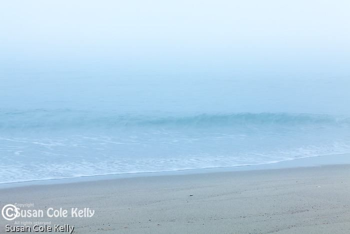 A foggy morning at Head of the Meadow Beach, Cape Cod National Seashore, Wellfleet, Massachusetts, USA
