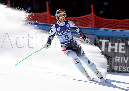 30.11.2013. Beaver Creek, Colorado, USA. Womens Super G downhill skiing world cup. Elisabeth Goergl (AUT).