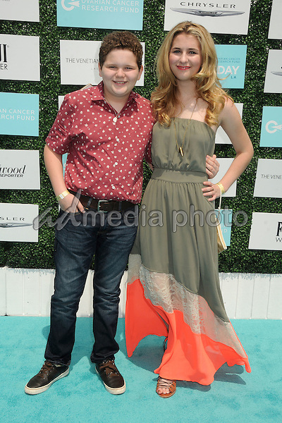 16 May 2015 - Santa Monica, California - Cade Sutton, Camryn Sutton. 2nd Annual OCRF Super Saturday LA held at Barker Hangar. Photo Credit: Byron Purvis/AdMedia