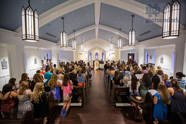 August 26, 2016; Flaherty Hall chapel dedication Mass (Photo by Peter Ringenberg/University of Notre Dame)