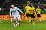 05.02.2019, Signal Iduna Park, Dortmund, GER, DFB-Pokal, Achtelfinale, Borussia Dortmund vs Werder Bremen<br /> <br /> DFB REGULATIONS PROHIBIT ANY USE OF PHOTOGRAPHS AS IMAGE SEQUENCES AND/OR QUASI-VIDEO.<br /> <br /> im Bild / picture shows<br /> Maximilian Eggestein (Werder Bremen #35), Thomas Delaney (Dortmund #06), <br /> <br /> Foto &copy; nordphoto / Ewert