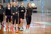 10.10.2017 Silver Ferns Gina Crampton in action during the  Silver Ferns training in Adelaide. Mandatory Photo Credit ©Michael Bradley.