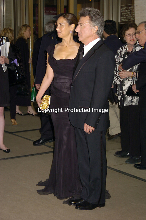 Lisa and Dustin Hoffman ..at The Film Society of Lincoln Center honor of Dustin Hoffman on April 18, 2005 at Avery Fisher Hall. ..Photo by Robin Platzer, Twin Images