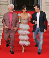 "LONDON, ENGLAND - AUGUST 08: Pedro Almodovar, Penélope Cruz and Antonio Banderas at the ""Pain and Glory"" Film4 Summer Screen opening gala & launch party, Somerset House, The Strand, on Thursday 08 August 2019 in London, England, UK.<br /> CAP/CAN<br /> ©CAN/Capital Pictures"