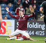 Kyle Lafferty tackled by Ross McCrorie