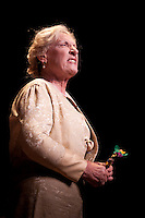 Joy Davidson performs in a one-woman play at the Philharmonic, Naples, Florida, USA, March 24, 2010. Photo by Debi Pittman Wilkey