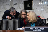 United States Representative Carolyn Maloney (Democrat of New York) arrives to the U.S. Congress Joint Economic Committee hearing with ChairBoard of Governors of the Federal Reserve System Jerome Powell on Capitol Hill in Washington D.C., U.S., on Wednesday, November 13, 2019.<br /> <br /> Credit: Stefani Reynolds / CNP