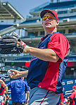 8 June 2013: Minnesota Twins outfielder Josh Willingham warms up prior to a game against the Washington Nationals at Nationals Park in Washington, DC. The Twins edged out the Nationals 4-3 in 11 innings. Mandatory Credit: Ed Wolfstein Photo *** RAW (NEF) Image File Available ***