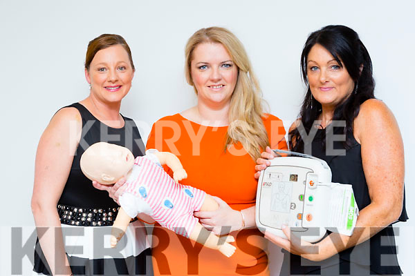 Fiona McMahon, Deirdre Nolan and Suzanne Taddei with Anne at the Killarney Cardiac first responce launch on Thursday night