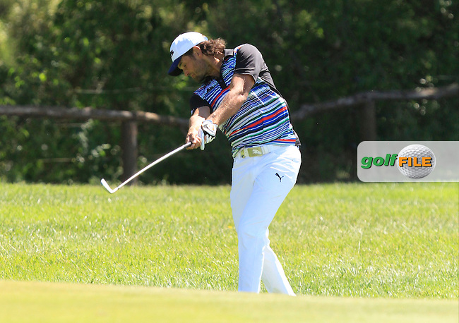 Johan Edfors (SWE) on the 9th fairway during Round 3 of the Open de Espana  in Club de Golf el Prat, Barcelona on Saturday 16th May 2015.<br /> Picture:  Thos Caffrey / www.golffile.ie
