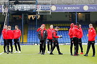 Fleetwood Town FC players seen prior to the Sky Bet League 1 match between Southend United and Fleetwood Town at Roots Hall, Southend, England on 13 January 2018. Photo by Carlton Myrie.