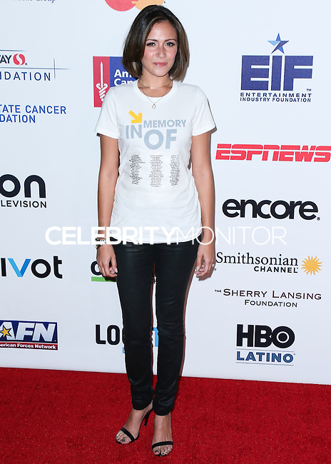 HOLLYWOOD, LOS ANGELES, CA, USA - SEPTEMBER 05: Italia Ricci arrives at the 4th Biennial Stand Up To Cancer held at Dolby Theatre on September 5, 2014 in Hollywood, Los Angeles, California, United States. (Photo by Xavier Collin/Celebrity Monitor)