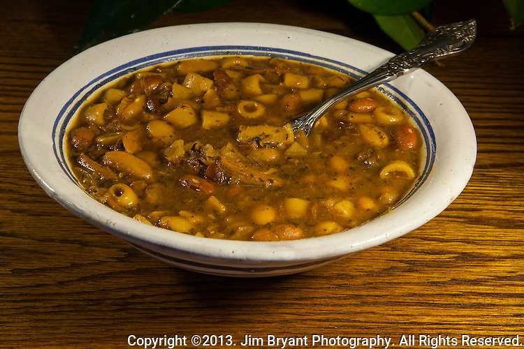 Neapolitan bean Soup. ©2013. Jim Bryant Photo. All Rights Reserved.
