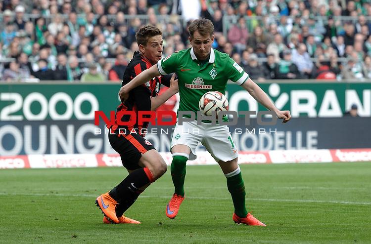02.05.2015, Weserstadion, Bremen, GER, 1.FBL, Werder Bremen vs Eintracht Frankfurt, im Bild Bastian Oczipka (Frankfurt #6), Izet Hajrovic (Bremen #14)<br /> <br /> Foto &copy; nordphoto / Frisch