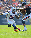 Buffalo Bills Da'Norris Searcy (25) during a game against the Chicago Bears on September 7, 2014 at Soldier Field in Chicago, IL. The Bills beat the Bears 23-20.