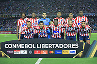 BARRANQUILLA, COLOMBIA - MARCH 04: Junior's team mates pose before the group A match of Copa CONMEBOL Libertadores between Junior and Flamengo at Estadio Metropolitano on March 4, 2020 in Barranquilla, Colombia. (Photo by Daniel Munoz/VIEW press via Getty Images)