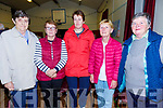 Pictured at the public meeting on saving the Ballinskelligs Post Office on Wednesday night last were l-r;Sister Cecilia English, Mary Anne O'Sullivan, Caroline O'Sullivan, Sheila Galvin & Mary Reardon.