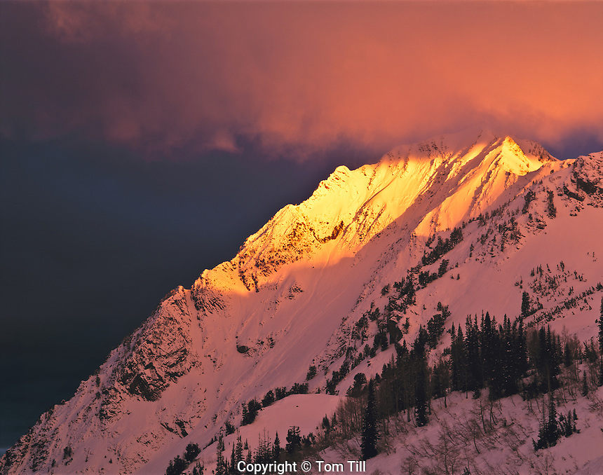 Spring Sunrise on Superior Peak, Twin Peaks Wilderness, Utah     Wasatch/Cache National Forest