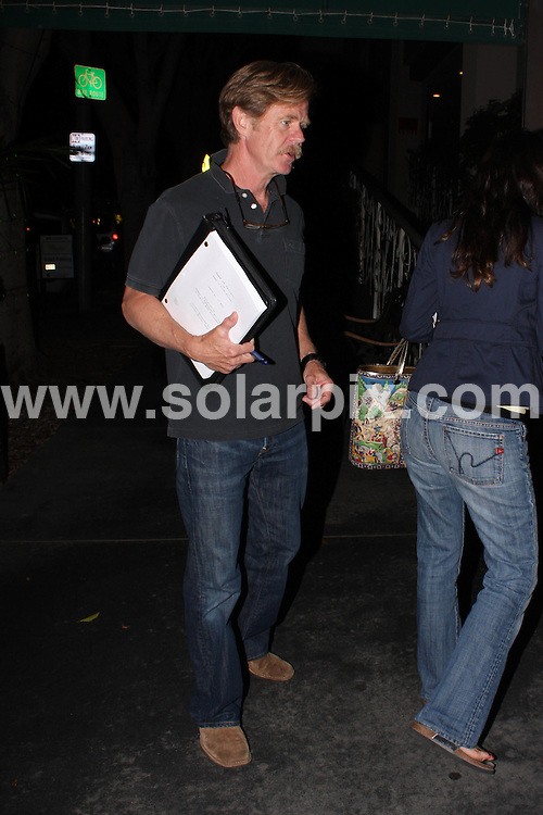 **ALL ROUND PICTURES FROM SOLARPIX.COM**.**WORLDWIDE SYNDICATION RIGHTS**.**NO PUBLICATION IN AUSTRALIA, NEW ZEALAND, DENMARK, GERMANY OR USA**.William H Macy arrives at Madeo Restaurant in Beverly Hills with new movie script in hand for upcoming project...JOB REF: 7295           LAP/JSCW     DATE: 10.09.08.**MUST CREDIT SOLARPIX.COM OR DOUBLE FEE WILL BE CHARGED* *UNDER NO CIRCUMSTANCES IS THIS IMAGE TO BE REPRODUCED FOR ANY ONLINE EDITION WITHOUT PRIOR PERMISSION*