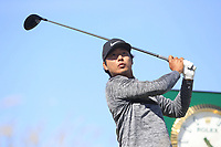Rak Hyun Cho (KOR) on the 17th during Round 1 of the Dubai Duty Free Irish Open at Ballyliffin Golf Club, Donegal on Thursday 5th July 2018.<br /> Picture:  Thos Caffrey / Golffile