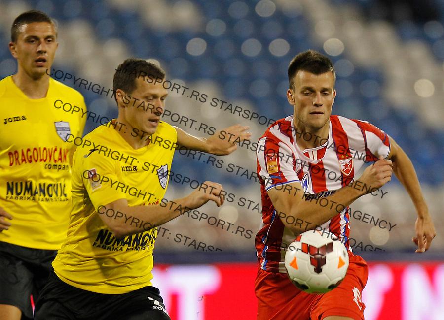 Fudbal Super liga season 2013-2014<br /> Crvena Zvezda v Novi Pazar<br /> Jovan Krneta (R) and Bojan Djordjevic (L)<br /> Beograd, 19.10.2013.<br /> foto: Srdjan Stevanovic/Starsportphoto &copy;