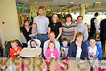 Philip Donegan from Tullig, Castleisland celebrating his 40th Birthday with family and friends at the Kingdom  Greyhound Studium on Saturdaypictured front l-r   Gearoid Donegan, Connie Donegan, Julia Donegan, Philip Donegan, Cillian Horgan, Sheila O'Dowd, back l-r Caoimhe Horgan, Fionnoula Kelly, Tadgh O'Dowd, Ger O'Dowd, Breda O'Dowd, Martina O'Dowd, Jo Horgan