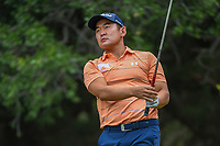 Andrew Yun (USA) watches his tee shot on 14 during Round 3 of the Valero Texas Open, AT&amp;T Oaks Course, TPC San Antonio, San Antonio, Texas, USA. 4/21/2018.<br /> Picture: Golffile | Ken Murray<br /> <br /> <br /> All photo usage must carry mandatory copyright credit (&copy; Golffile | Ken Murray)