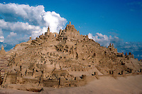 San Diego: Sand Castles, Village. (A sort of Mount St. Michelle)  (Photo '85)
