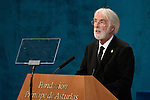 Michael Haneke, Prince of Asturias Award for the Arts, gives a speech during the 2013 Prince of Asturias Awards ceremony at the Campoamor Theater in Oviedo, Spain. October 25, 2013..(ALTERPHOTOS/Victor Blanco)
