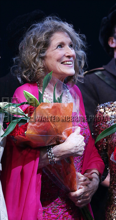 Lucy Simon during the Broadway Opening Night Performance Curtain Call for 'Doctor Zhivago' at The Broadway Theatre on April 21, 2015 in New York City.