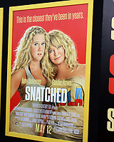 """LOS ANGELES - MAY 10:  Snatched Poster at the """"Snatched"""" World Premiere at the Village Theater on May 10, 2017 in Westwood, CA"""