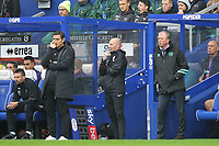 Derby County manager Frank Lampard and Queens Park Rangers manager Steve McClaren during Queens Park Rangers vs Derby County, Sky Bet EFL Championship Football at Loftus Road Stadium on 6th October 2018