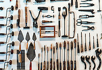 Collection of antique tools.
