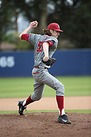 Cody Anderson (50) of the Washington State Cougars pitches against the Loyola Marymount Lions at Page Stadium on February 26, 2017 in Los Angeles, California. Loyola defeated Washington State, 7-4. (Larry Goren/Four Seam Images)