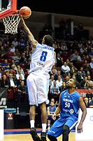 GRONINGEN - Basketbal, Donar - Fribourg, tweede voorronde Champions League, seizoen 2018-2019, 25-09-2018,  Donar speler Jason Dourisseau score