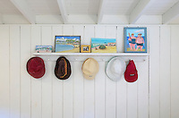 Rustic hat rack.