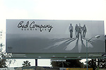 Bad Company Buringing Sky billboard on the Sunset Strip circa 1977