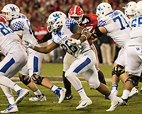 Athens, GA - November 18, 2017: The number 7 ranked Georgia Bulldogs host the Kentucky Wildcats at Sanford Stadium.  Final score Georgia 42, Kentucky 13.