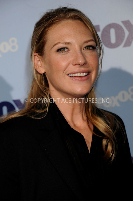WWW.ACEPIXS.COM . . . . .....May 15, 2008. New York City.....Actress Anna Torv attends the Fox Network Upfront held at the Wollman Rink in Central Park ...  ....Please byline: Kristin Callahan - ACEPIXS.COM..... *** ***..Ace Pictures, Inc:  ..Philip Vaughan (646) 769 0430..e-mail: info@acepixs.com..web: http://www.acepixs.com
