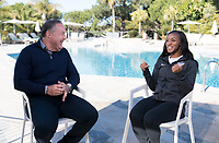 Faro, Portugal - January 8, 2019:  Members of the USWNT are interviewed during January Camp in Portugal.