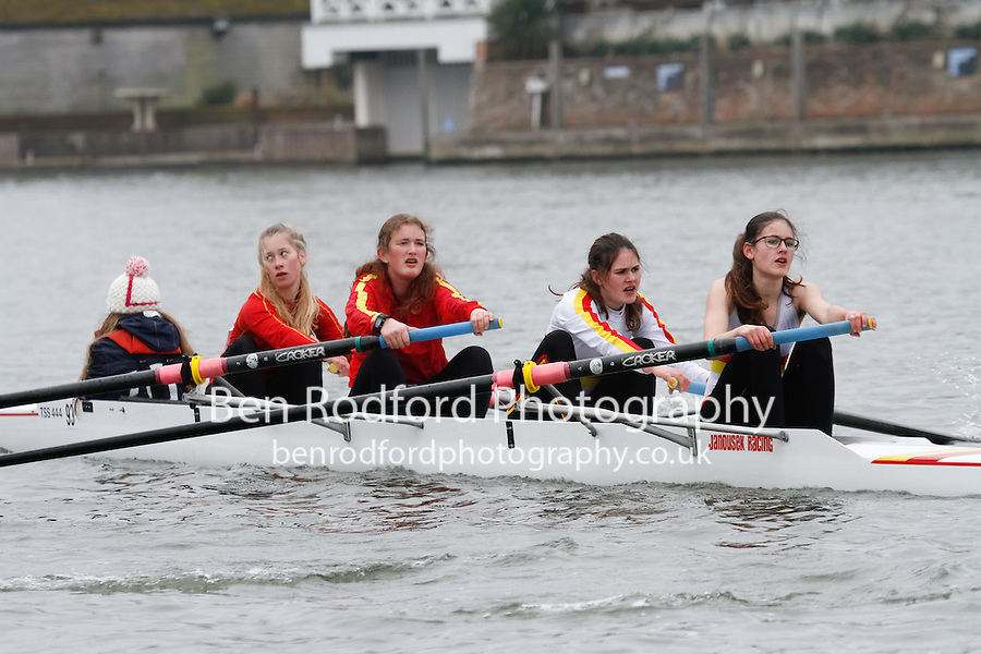 Crew: 93 - Tideway Scullers Sch  - W.J16A.4+ <br /> <br /> Henley Fours &amp; Eights Head 2017<br /> <br /> To purchase this photo, or to see pricing information for Prints and Downloads, click the blue 'Add to Cart' button at the top-right of the page.
